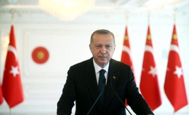 """Erdoğan: """"Kıbrıs meselesinde artık gerçekçi ve yeni seçeneklerin tartışılması gerek"""""""