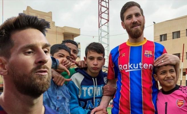 Lionel Messi'ye benzerliğiyle dikkat çekiyor