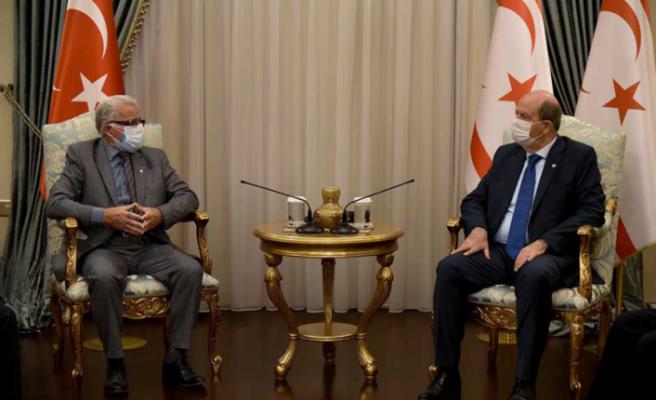 """Ersin Tatar: """"Bir anlaşma olması için Kıbrıs Türkünün onayı gerekir"""""""