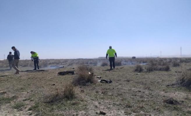 Konya'da askeri uçak düştü: 1 pilot şehit oldu
