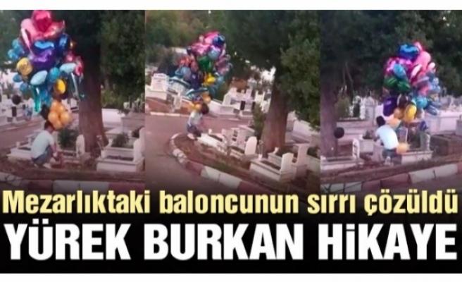 Baloncunun yürekleri burkan mezarlık ziyareti