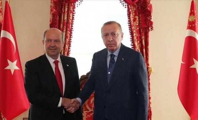 Cumhurbaşkanı Tatar, TC Cumhurbaşkanı Erdoğan ile Bir Araya Geldi