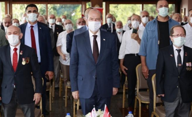 """Ersin Tatar: """"Kıbrıs Türk halkının örgütlendi ve Türkiye'nin de desteğiyle mücadeleye başladı"""""""