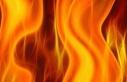 Lapta'da ev yangını!