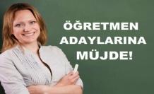 Öğretmen adaylarına güzel haber...