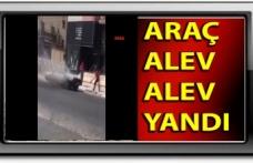 Gazimağusa'da Seyir Halindeki Araç Alev Aldı