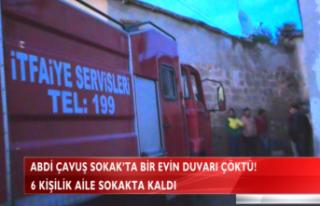 ABDİ ÇAVUŞ SOKAK'TA BİR EV ÇÖKTÜ!(VİDEO...