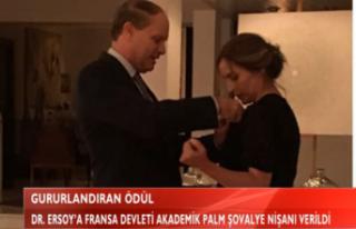 DR. ERSOY'A FRANSA DEVLETİ AKADEMİK PALM ŞOVALYE...
