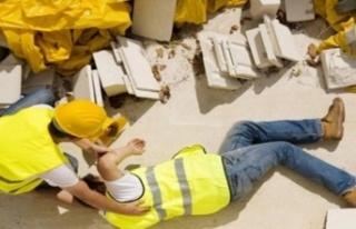 Lefkoşa'da iş kazası! İşçi, 3 metreden...