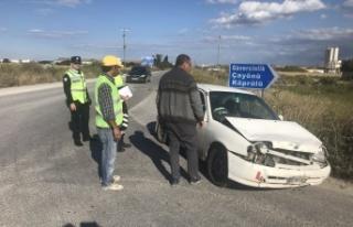 Beton Kamyon Mikserine Arkadan Çarptı Yaralandı