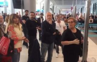 İstanbul Havalimanı'nda İlk Kavga (video haber)