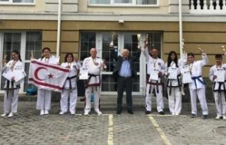 KKTC Taekwondo Milli Takımı uluslararası müsabakada...