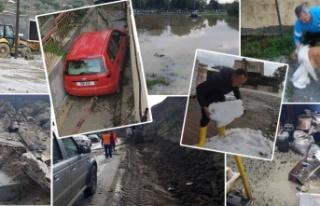 İskele'de yağışlar etkli oldu