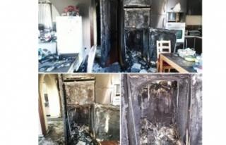 Kermiya'da ev yangını!