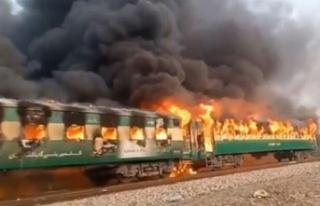 Pakistan'da tren yangını faciası: En az 62...
