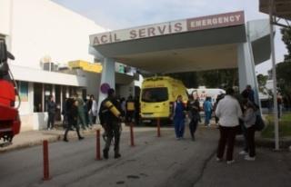 Lefkoşa Devlet Hastanesi'ndeki yangının çıkış...