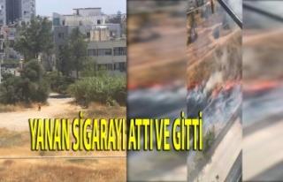 Gazimağusa'da Kundakçı Kameraya Yakalandı