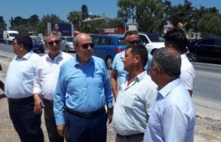 Tatar, Girne –Alsancak Yolu 1. Etap projesinde incelemede...