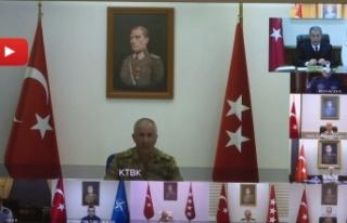 Barış Kuvvetleri Komutanı Öztürk, Hulusi Akar'a...