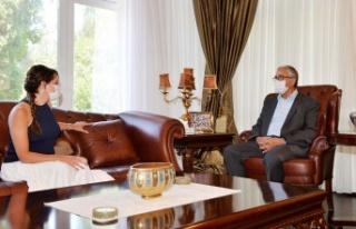 Cumhurbaşkanı Akıncı Rüya Taner'i kabul etti