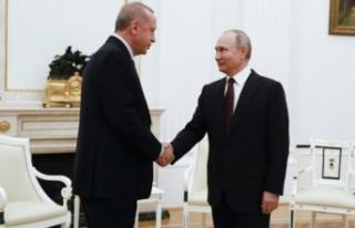 Erdoğan, Putin'le Doğu Akdeniz'i görüştü:...