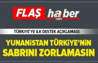 Tatar: Yunanistan Türkiye'nin sabrını zorlamasın.