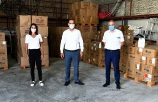 Ankara'dan Lefkoşa'ya maske ve dezenfektan katkısı