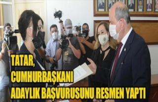 Başbakan Ersin Tatar da Adaylık Başvurusunu Yaptı