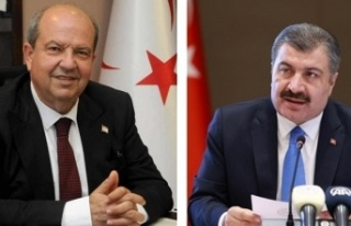Başbakan Tatar, TC Sağlık Bakanı Koca ile projeleri...