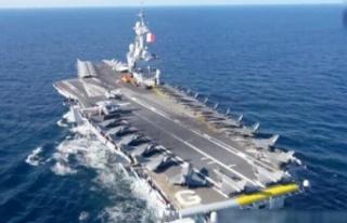 Charles De Gaulle uçak gemisi Doğu Akdeniz'e doğru...