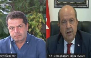 """Tatar: """"Ersin Tatar Hükümetinin ilk açıklaması,..."""