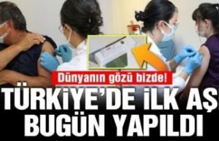 Türkiye'de ilk Covid-19 test aşısı