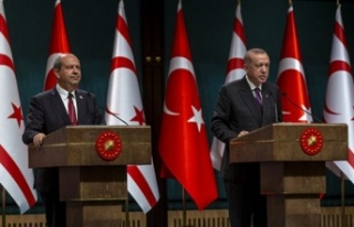 Erdoğan: Ersin Tatar güçlü liderlikle seçim yarışından...