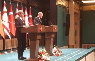Erdoğan: Türk tarafı Kıbrıs'ta adil, kalıcı...