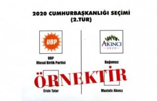 Tatar ve Akıncı'nın yarışacağı Cumhurbaşkanlığı...