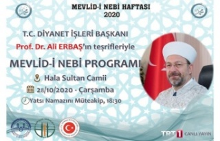 TC Diyanet İşleri Başkanı Erbaş, Mevlid Kandili...
