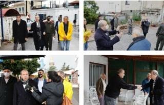 Cumhurbaşkanı Tatar, doğal afetten etkilenen Ozanköy'de...