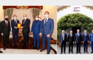 Cumhurbaşkanı Tatar'ın açıklamaları Azerbaycan'da...