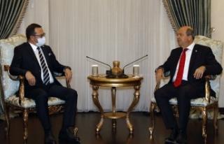 Cumhurbaşkanı Tatar, KTTO Yönetim Kurulu heyetini...