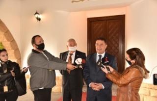 Cumhurbaşkanı Tatar, UBP Genel Başkan Vekili Saner'i...
