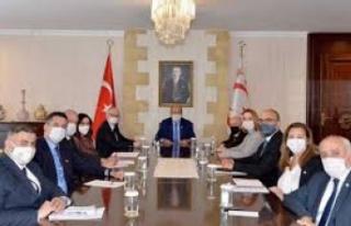 Cumhurbaşkanlığında 'Kıbrıs' konulu...