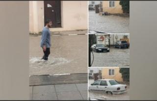 İskele yağmura teslim oldu