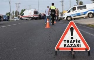 Lapta'da kaza: 1 ağır yaralı