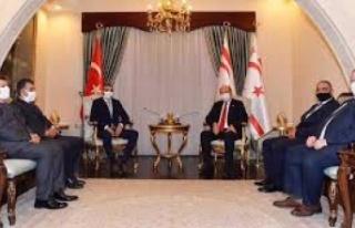 Cumhurbaşkanı Ersin Tatar, Hentbol Federasyonu heyetini...
