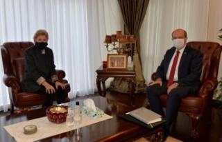 Cumhurbaşkanı Tatar, Lute'u kabul etti
