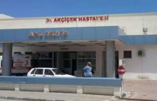 Girne Dr. Akçiçek Hastanesinde bir hemşire covid19...