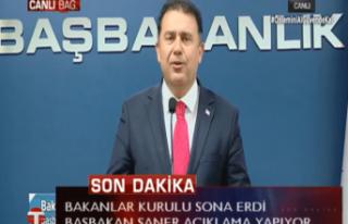 CANLI: Başbakan Ersan Saner Bakanlar Kurulu Sonrası...
