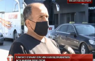 CANLI: Taksiciler Esnafı Ercan Havalimanı'nın...