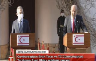 CANLI:Cumhurbaşkanı Ersin Tatar ve TC Cumhurbaşkanı...
