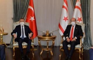 Cumhurbaşkanı Ersin Tatar, Fuat Oktay'ı kabul...